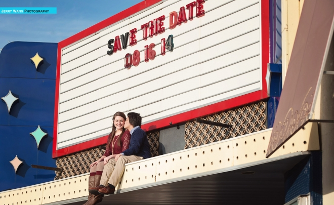 Myron & Chelsea | Lawrence Kansas Engagement Session | Granada Theater